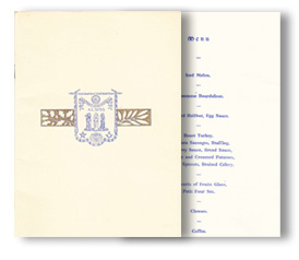 Bicentenary Celebration Menu - Click to open.